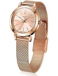 Julius ja-732 Mujer tono de oro rosa de las mujeres de cuarzo analógico  reloj d5edd3d81a77