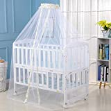 Surakey Moskitonetz Baby Insektenschutz Mückennetz für Kinderbetten Babybetten, Stubenwagen oder und Laufstall, Gelb