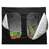 Homgrace Growzelt Growbox Growschrank Zuchtzelte Grow Box Zelt für Zimmerpflanzen Gartenarbeit Innen- Hydroponik Gewächshaus (240 x 240 x 200cm)