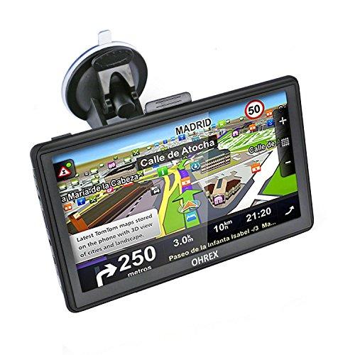 OHREX 7 zoll GPS Navigator Navi mit Vorgeladene Europe Karten, LKW,PKW Navigationsgerät GPS Navigation With 8G RAM 128MB Win CE 6.0 1500mah