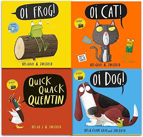 Kes Gray Collection 4 Books Set (Oi Frog, Oi Dog, Quick Quack Quentin, Oi Cat)