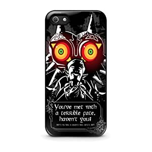 Coque iPhone 4/4S - Legend Of Zelda Link Majoras Mask Quote
