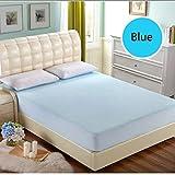 joybuy TPU Bett Schutz Pad Wasserdicht Hypoallergen Matratze Bezug Displayschutzfolie vollständig Anliegend Tief Tasche, mehrere Farben & Größen wählbar, blau, 180×200cm+30cm