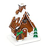 Enchanting Gingerbread House, Miniature Log Cabin Dunkle Schleife