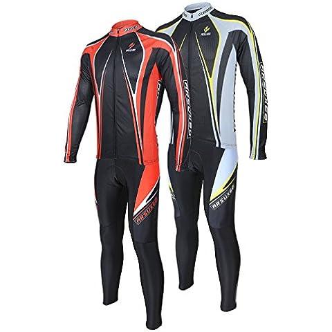 Suits ARSUXEO Uomini Sport vestiti di riciclaggio della bici della bicicletta Jersey vestiti lunghi maniche