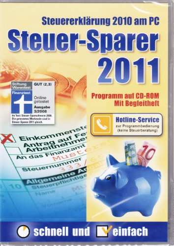 Steuer-Sparer 2011 – Steuererklärung 2010 am PC (DVD-Box)