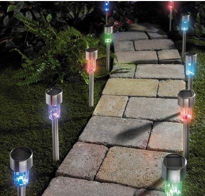 10 Lampes solaires Changement de couleur