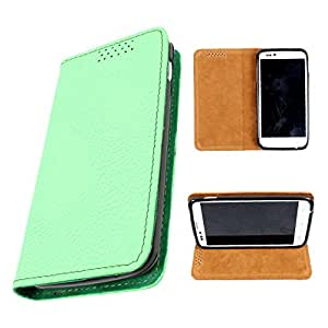 i-KitPit PU Leather Flip Case For Google Nexus 5 (GREEN)