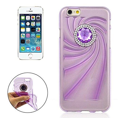 Phone case & Hülle Für IPhone 6 Plus / 6S Plus, modische Ultradünn Diamond verkrustete TPU Schutzhülle ( Color : Blue ) Purple