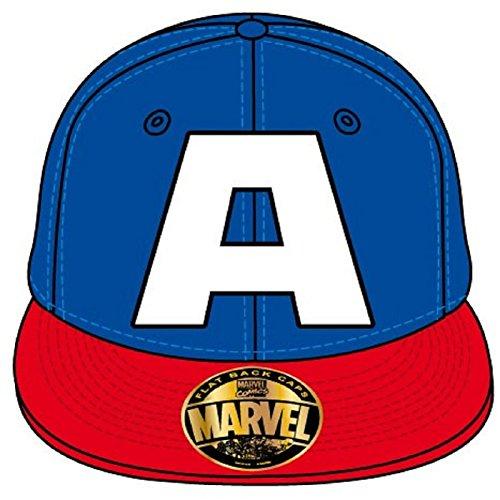 Captain america A Logo Official Marvel Blue Snapback Baseball Cap One Size