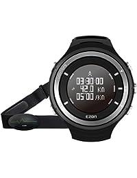 EZON T033 GPS Relojes de los hombres Reloj digital de deporte con Bluetooth Monitor de ritmo