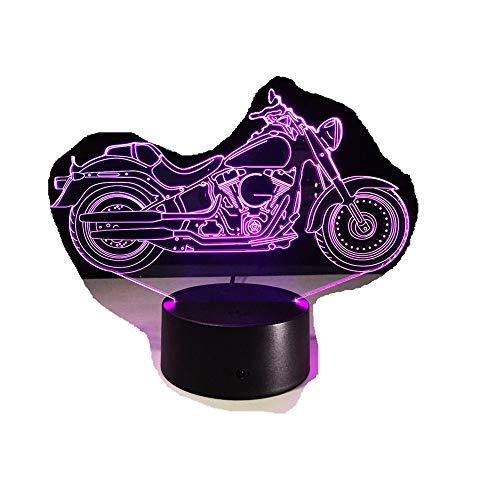 Motor Form Led Tischlampe/Touch Nachtlicht / 7 Farben Ändern/Schlafen Lamparas Licht/Acryl Usb 3D Led Lampe3D -
