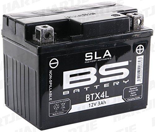 BS Battery 300669 BTX4L AGM SLA Motorrad Batterie, Schwarz Sla-batterie