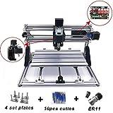 CNC Router Engraving Machine, 3 Axis 3018 GRBL Mini CNC Router Milling Wood Engraving Machine Printer for Plastic, Wood, Acrylic, PVC & PCB – 300 * 180 * 40mm