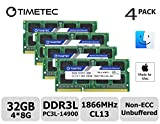 Timetec Hynix IC 32GB Kit (4x8GB) DDR3 PC3-14900 1866MHz Apple iMac 17,1 w/Retina 5K display (27-inch Late 2015) A1419 (EMC 2834) MK462LL/A, MK472LL/A, MK482LL/A (32GB Kit (4x8GB))