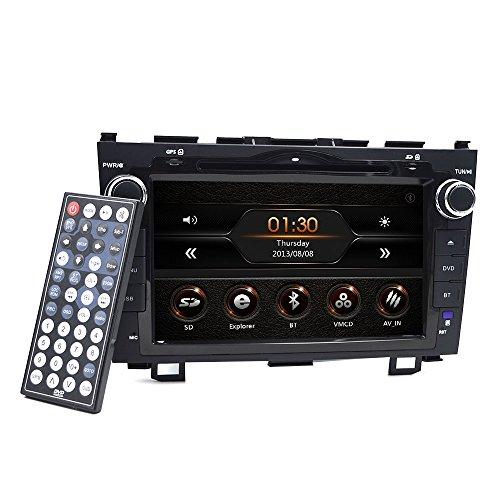Autoradio 2Din Stéréo à écran tactile numérique de 8 pouces pour Honda CRV C-RV Support GPS Navigation Lecteur de DVD / CD Bluetooth Radio RDS Commande de volant USB Subwoofer AUX Carte 8G gratuite