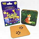 #9: Jungle Enigma 3 Card Memory Game Mother, Baby and Footprint