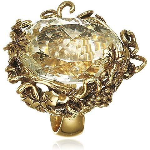 Misis Champagne–Anello Donna in Argento 925con zirconi taglio ovale bianco an03058Pa