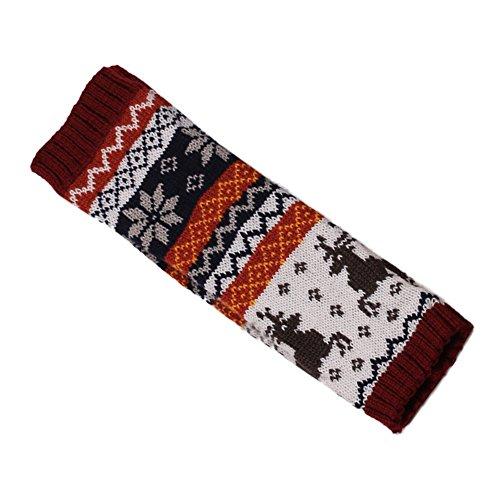 YunYoud Frauen Fingerlose Strickhandschuhe Arm Warmer Winter Handschuhe lange damenhandschuhe für schwarz fleece wildlederhandschuhe ungefüttert autohandschuhe stulpenhandschuhe