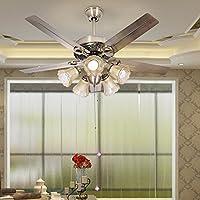 LED di ferro in legno Pala ventilatore
