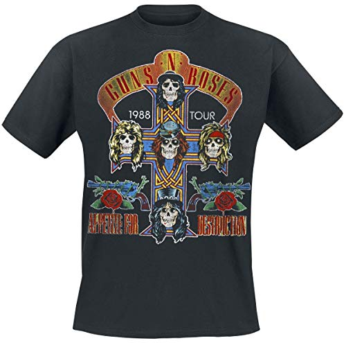 Guns N Roses Tour 1988 T-Shirt schwarz XL