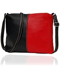 Borse Women Red & Black PU Sling Bag - Gift For Rakhi