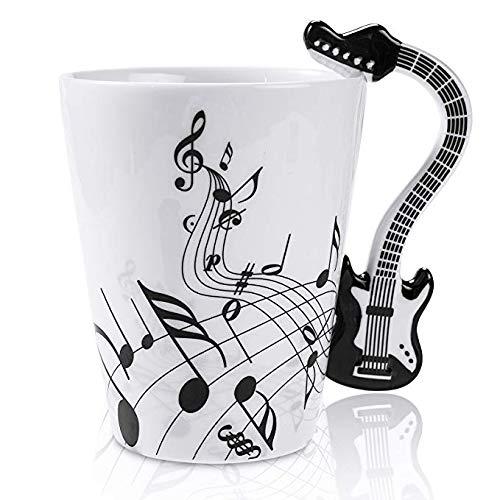 Puruitai musica musica tazza di caffè tazze tè musical notes design chitarra drink tea latte caffè tazza in ceramica cup, a