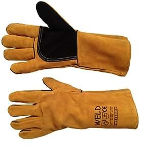 ** Premium Welding Gloves / Welders Gauntlets - Reinforced - KEVLAR Stitched - Fully Lined - XL**
