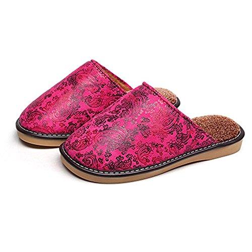 Pantofole Retrò Cotone Le Caldo Inverno Rosa A In E Casa Camera Donne Tellw Uomini xgqtwZdtv