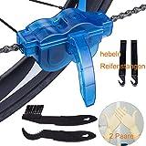 Yimorex Fahrrad Kettenreinigungsgerät Kettenreiniger Reinigung Scrubber Pinsel-Werkzeug im Set mit Ritzelbürste,2 Paar Latexhandschuhe, 2 Stück hebeln Reifenstangen