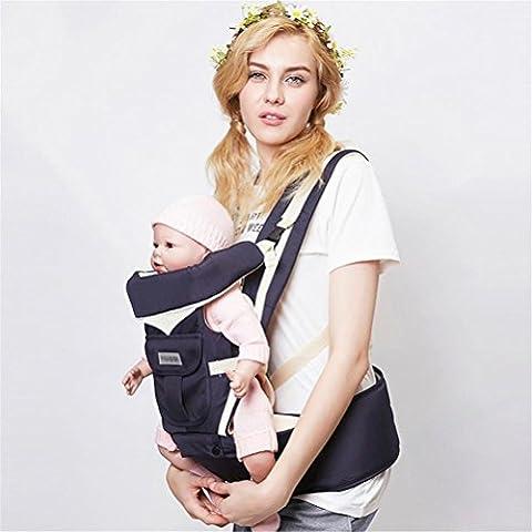 Baby-Träger Breathable Hüft-Sitz-Träger Ergonomisches Design Vielfalt tragen Wege mit abnehmbarem Sitz Einstellbare Neugeborene Portable Multifunktions-Rucksackträger für vier Jahreszeiten 0 ~ 20kg , blue