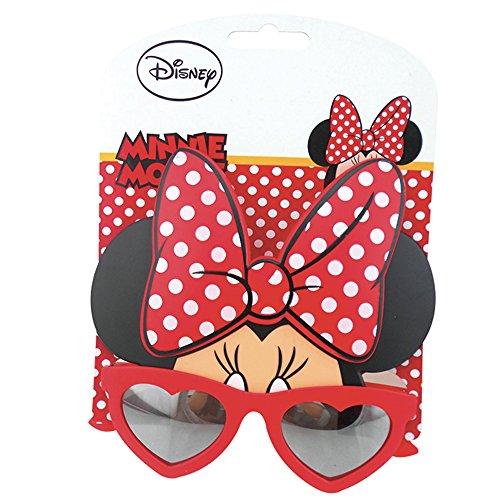 Rocco giocattoli minnie-occhiale da sole, colore rosso, taglia unica wd19540