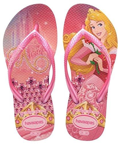 Havaianas Slim Princess, Tongs Fille Rose (crystal Rose/shocking Pink 8721)