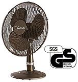 Winde - Tischventilator Schwarz - Kühlgerät - Luftkühler - Geräuscharm - 3 Geschwindigkeitstufen - aut. Schwenkbar (Oszillationsfunktion)