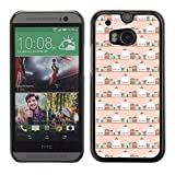 WonderWall (Not For HTC ONE Mini 2) Wallpaper Fancy Picture Image Hard Case Cover Protection Black Edge for Smartphone HTC One M8 - Tea And Kettle