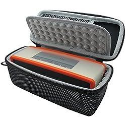 Khanka EVA Dur Cas Voyage Etui Housse Sac Case pour Bose Soundlink Mini 2 / II Bluetooth Portable Wireless Speaker haut-parleur - Fits the Chargeur , Charging Cradle. Fits avec the Bose TPU Doux couverture (Noir et blanc)