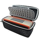Khanka Dur Cas étui de Voyage Housse Porter pour Bose Soundlink Mini 2 / II Bluetooth Portable Wireless Speaker Haut-Parleur Fits avec The Bose TPU Doux Couverture (Noir)