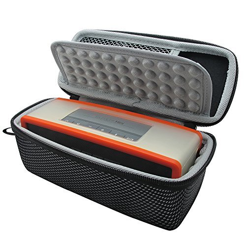 Khanka EVA Dur Cas Voyage Etui Housse Sac Case pour Bose Soundlink Mini 2 / II Bluetooth Portable Wireless Speaker haut-parleur - Fits the Chargeur , Charging Cradle. Fits avec the Bose TPU Doux couverture (Noir et blanc)