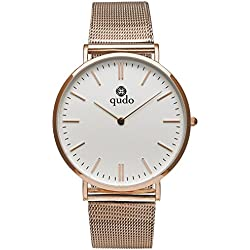 Qudo Ladies Watch Silvertone 4S/White 801047