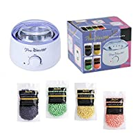 Hair Removal Hot Wax Warmer Waxing Kit Wax Melts Professional Wax Heater With 4 Flavors Hard Wax Beans