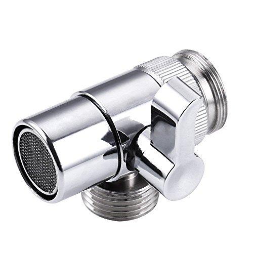 ShinMor Messing-Umsteller Ventil für Küche oder Waschbecken Wasserhahn zu Schlauch Adapter Ersatzteil M22 X M24