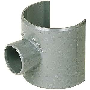 Selle de raccordement PVC gris - Femelle Ø 80 - 50 mm - Nicoll