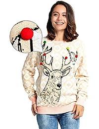 moderner Stil bieten viel beste Auswahl an Suchergebnis auf Amazon.de für: weihnachtspullover - Beige ...