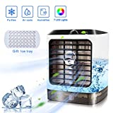wetwgvsa Climatiseur Portable Refroidisseur d'air 3 Réglable Air Climatiseur 7 LED...