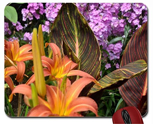 day-lilies-and-canna-tropicana-foliage-and-flowers-english-garden-mouse-pad-computer-mousepad
