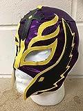 WRESTLING Rey Mysterio - Viola - Zip Maschera - Nuovo - WWE Costume Travestimento Vestito
