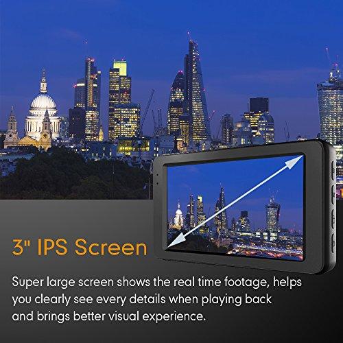 Mibao Dash Cam per Auto Telecamera Auto Dashcam 1080P con 3.0″ LCD, 170 Gradi, 6 Glens, G-Sensor, WDR, Rilevazione di Movimento, Registrazione in Loop, Monitor di Parcheggio - 3