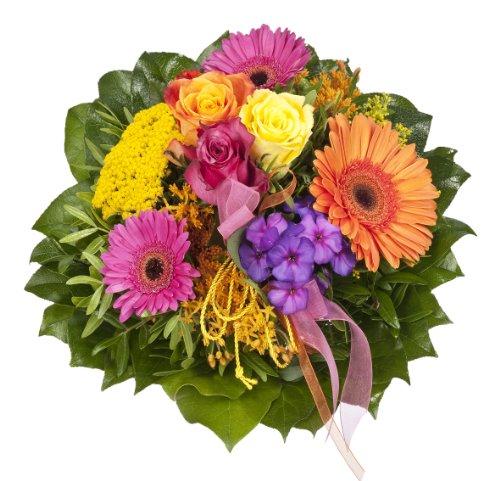 """floristikvergleich.de Dominik Blumen und Pflanzen, Blumenstrauß  """"bunter Traum"""" mit bunten Rosen"""
