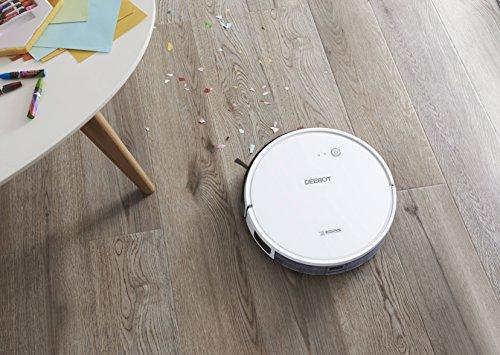 517mwgDDYUL [Bon Plan Ecovacs] ECOVACS DEEBOT 600 - Aspirateur robot nettoyeur - Pour sols durs et tapis - Aspirateur sans fil programmable via smartphone et compatible avec Amazon Alexa