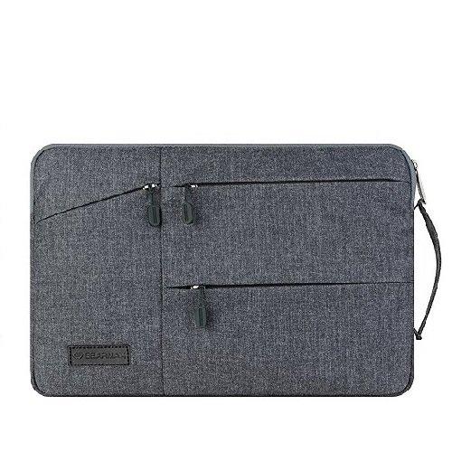 """13.3"""" Laptop Tasche, TechCode Wasserdichtes Material Laptop Sleeve Tasche Schutz für Ihren Notebook für Schule, Studium, Reisen und im Büro und für geschäftliche Nutzung, Notebook Tragetasche Cover Ba Grau"""